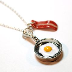 A necklace for someone you love as much as you love breakfast food.
