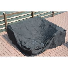LTD Plus Large Square Patio Dining and Sofa Set Cover by Direct Wicker (90.5 x 90.5 x 27.6 inches), Black, Patio Furniture