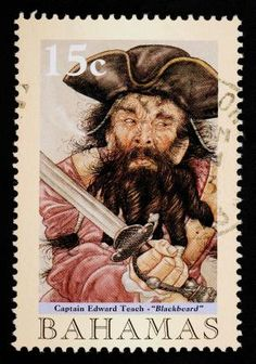 Blackbeard Bahamas Postage 15 cents http://www.student-support.co.uk/passmasters/summer-2010/fun-facts-pirates