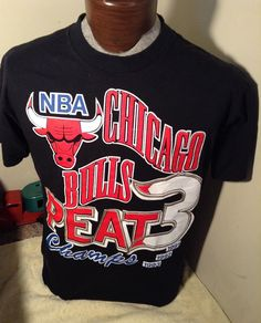 059f77169a1 ORIGINAL1993 Vintage 3 Peat World Champions Chicago Bulls T Shirt X-Large  #ChicagoBulls Nba