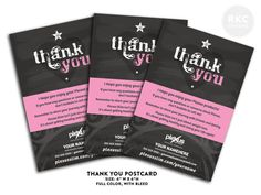 Plexus Thank You Cards  Great to send to your customers!   Matching one of my Business card designs. Get matching cards, labels, and facebook cover.  by RKCCards on Etsy