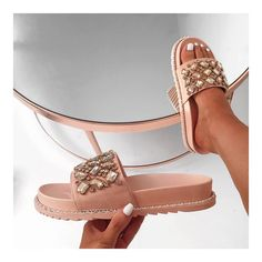 2012a7aabf1afd The sliders you ve been dreaming of 💎💎💎 🔍 COSETTE faux suede jewell