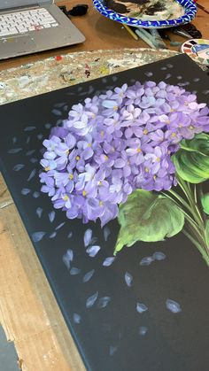 Get everything in your hqnds right Acrylic Painting Flowers, Acrylic Art, Painting Art, Diy Canvas Art, Canvas Painting Tutorials, Flower Art, Watercolor Art, Art Drawings, Art Projects