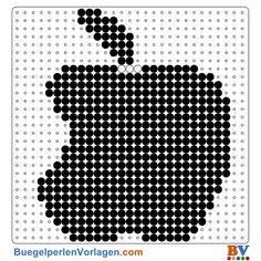 Apple Bügelperlen Vorlage. Auf buegelperlenvorlagen.com kannst du eine große Auswahl an Bügelperlen Vorlagen in PDF Format kostenlos herunterladen und ausdrucken.