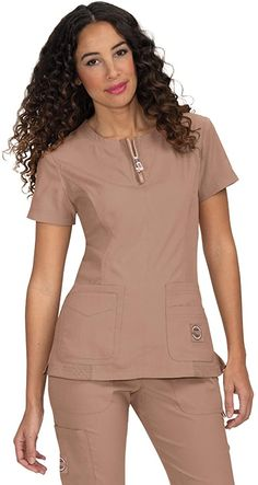 Leg And Glute Workout, Scrubs Uniform, Work Uniforms, Womens Scrubs, Scrub Tops, Work Attire, Sweater Cardigan, Peplum Dress, Costume