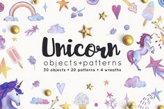 Buy Unicorn Objects and Patterns Set by likorbut on GraphicRiver. You will get: 30 design objects on transparent background (PNG), 20 seamless patterns transparent PNG + 10 color . Unicorn Illustration, Pencil Illustration, Graphic Illustration, Illustrations, Watercolor Animals, Watercolor And Ink, Unicorn Sprinkles, Cartoon Design, Creative Sketches