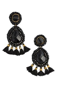 Panacea Rope Tassel Statement Earrings available at #Nordstrom