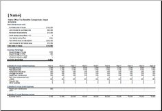 college comparison spreadsheet