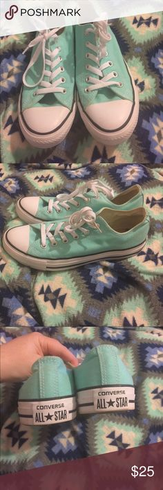 Converse Robins egg blue converse barely worn! (See photo of bottoms) 😊 in excellent condition! Converse Shoes Sneakers