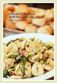 Creamy garlic tortellini salad.  Next time use less of the dressing mixture.
