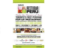 Primer Pop-Up RestoBar Perú en Toronto, Canadá