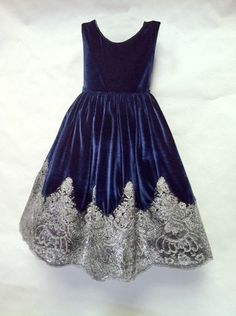 Navy Blue Bedding for Girls | special occasion flower girl communion holiday girls midnight navy ...