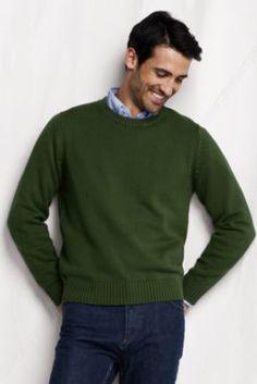 021c22d724b Men s Cotton Drifter Crew Sweater from Lands  End Men Sweater
