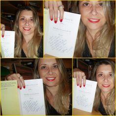 E esse lindo sorriso compõe a minha alegria da noite... Leitora simpática e graciosa lá de Santos/São Paulo, entrelaçando Meus Deixados aos dela! Gratidão Cristina!