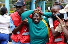 A woman after she viewed the body of a relative killed in an Al-Shabaab attack on a university in northeastern Kenya.