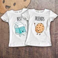 Best Friends Women Shirts Milk and Cookie by SayYouLoveMeGifts