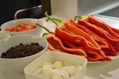 Cooking with Gaggenau - Ingredients for roasted romano peppers - Wignore Street - Humphrey Munson Blog
