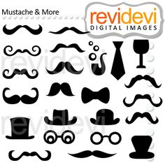 Mustache and More - fun graphics for crafts and creative projects.