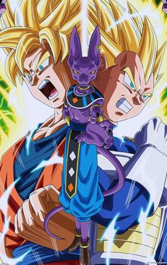Goku y Vegeta vs Bills - Visit now for 3D Dragon Ball Z shirts now on sale!