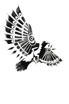 """Native Raven Shaman"" - Sassan Filsoof; Drawing, Digital"
