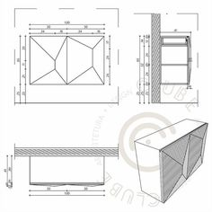 Outside Furniture, Built In Furniture, Furniture Projects, Furniture Design, Outdoor Wood Projects, Cladding Design, Drawing Furniture, Interior Design Presentation, Joinery Details