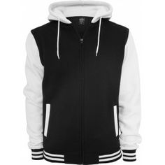 URBAN CLASSICS -2 TONE ZIP HOODY - Hoodies & Crews - Menswear. Wear it with a tee and jeans.
