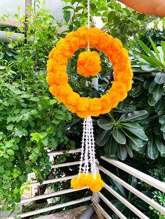 Flower Decoration For Ganpati, Ganpati Decoration Design, Diwali Decoration Items, Diwali Decorations At Home, Festival Decorations, Flower Decorations, Diwali Diy, Diwali Craft, Handmade Flowers