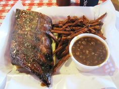 I'm not typically a hardcore rib fan--but Pappy's ribs are like a little piece of heaven. The St. Louis dry rub is just so right--you don't even need sauce. But, you'll get some anyway. You gotta. BBQ fans can die happy after eating these babies.