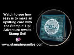 Make an uplifting card with the Stampin' Up! Adventure Awaits Stamp Set! - YouTube