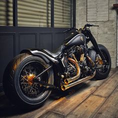 "Custom Harley Davidson Softail Slim motorcycle by Rough Crafts. This bike is known as ""Crowned Stallion"" and is one of my favorite bikes to date."