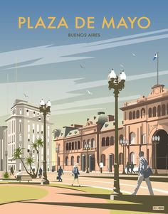 Plaza del mayo * buenos aires hoorn vintage holding travel p Vintage Travel Posters, Vintage Postcards, Latin America, South America, Uruguay Tourism, Minimal Travel, Hispanic Heritage Month, Photo Vintage, Cities