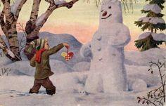 Julekort Arnold Thornam (Mittet brukt 1928