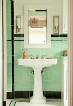 cute retro tile pattern. soft green.