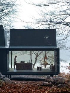 "wetheurban: "" DESIGN: The Vipp Shelter House goals. The Vipp Shelter is a minimalist prefab concept located in Copenhagen, designed by Danish design company Vipp. A 55 square meter steel object. Prefabricated Houses, Prefab Homes, Prefab Cottages, Prefab Cabins, Small Cottages, Container Architecture, Interior Architecture, Beautiful Architecture, Sustainable Architecture"