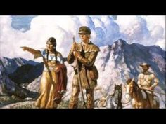 Native American Painting - Sacagawea With Lewis And Clark During Their Expedition Of by Newell Convers Wyeth Us History, American History, Family History, History Websites, History Timeline, History Education, Modern History, Westerns, Nc Wyeth