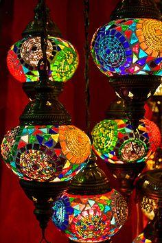 mosaic lantern