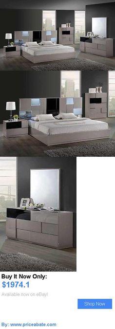 Bedding: Bianca Queen Size Modern Grey Bedroom Set 5Pc Global Furniture BUY IT NOW ONLY: $1974.1 #priceabateBedding OR #priceabate