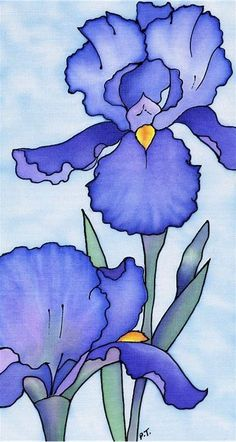 Image result for Iris Flower Drawing Easy