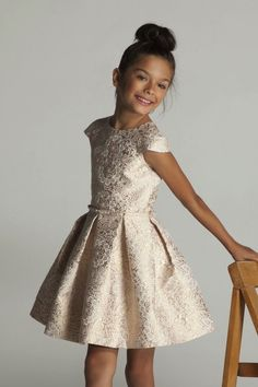 girls brocade dress | kids fashion | girls party dress
