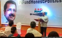 """MUMBAI: Aam Admi Party(AAP) leader Arvind Kejriwal kick started the party's fund-raising campaign for the Delhi assembly elections by hosting a Rs. 20,000 per plate dinner for young professionals, diamond merchants and bankers in Mumbai. """"We collected Rs. 91 lakh from the fund-raiser dinner last night. Rs. 36 lakh were collected from…"""