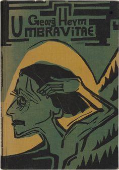 Ernst Ludwig Kirchner. Cover (Bucheinband) from Umbra vitae. 1924
