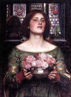 John William Waterhouse - Gather Rosebuds While May