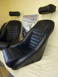 Our 'Hockenheim' seat in dark blue. Classic Car Seats by GTS Classics. Custom Car Seats, Custom Cars, Bomber Seats, Datsun Roadster, Custom Car Interior, Leather Car Seats, Diy Shops, Car Colors, Bucket Seats