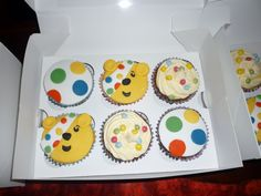 I can't believe I have only just finished!!!!  I love Children in Need and decided to make some Pudsey Bear cakes to sell at work. As well ...