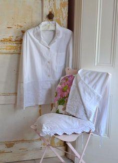 Julia Cotton Pajamas White