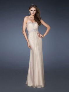 Elegante Perlen Etui-Kleid Herzform Bodenlänge Chiffon