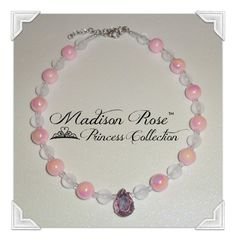 Princess Pendant Necklace from the Madison Rose by Irbella on Etsy, Affordable Jewelry, #PrincessJewelry #PhotoProp #DressUp #Halloween #Princes #Fairy #SleepingBeauty #Aurora
