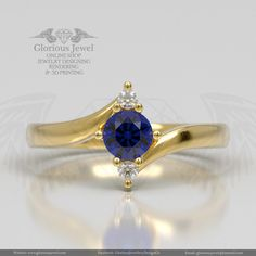 Glorious Engagement or Wedding Ring with CZ stone / 925