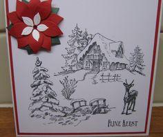 handmade christmascard stamping up