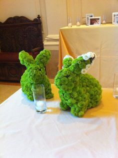 flower bunnies! - lol this would be so great in my house!!!